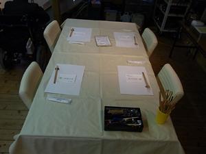 テーブル準備